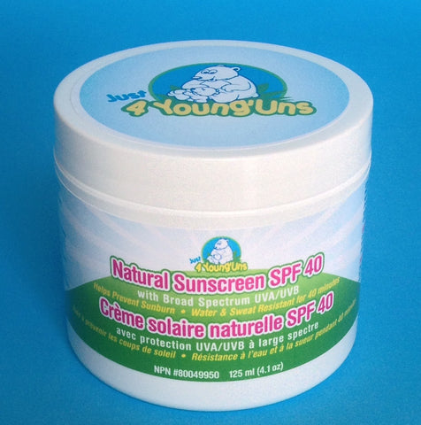 Just 4 Young'Uns - Natural Sunscreen SPF 40 125g