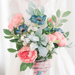 Get The Look: Pink Spring Silk Flower Bridal Bouquet