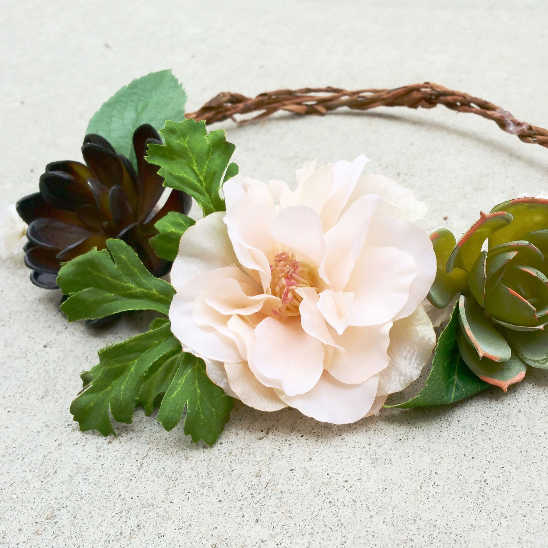 How to Make a Rustic Flower Crown