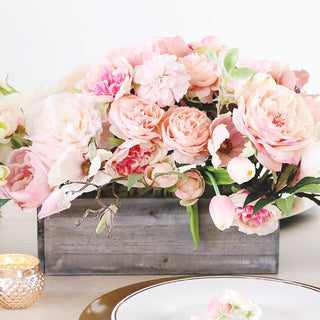 Get The Look: Pink Peach Artificial Flower Centerpiece