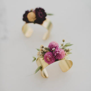 DIY Dried Flower Cuff