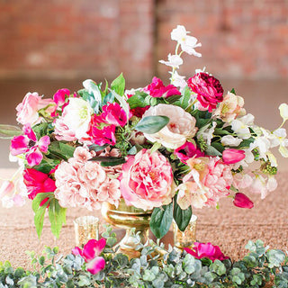 Get The Look: Bright Pink Wedding with Artificial Flowers