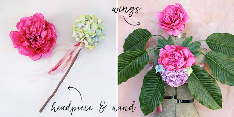Woodland Fairy Headpiece Wand and Wings