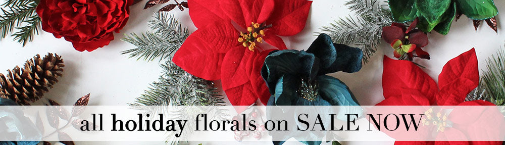 Holiday Silk Florals and Decor