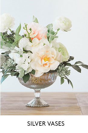 Silver Vases for Wedding Centerpieces