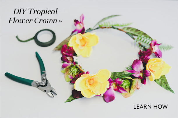 DIY Tropical Flower Crown for Destination Weddings