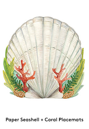 Seashell Paper Placemats Beach Decor