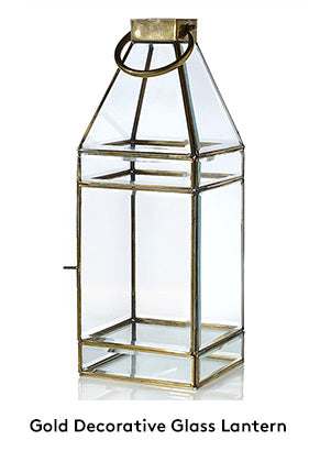 Gold Glass Lanterns Wedding and Home Decor