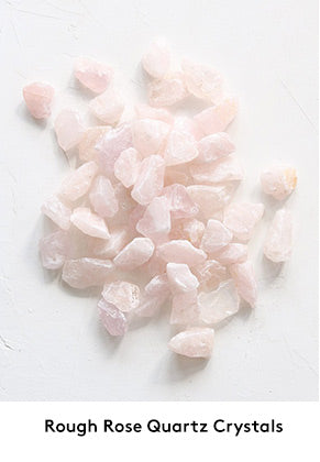 Rose Quartz Wedding Decorations and Plant Filler