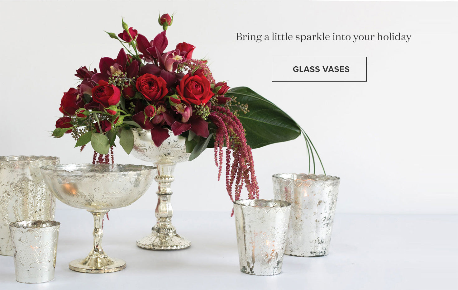 Mercury Glass Vases for Centerpieces