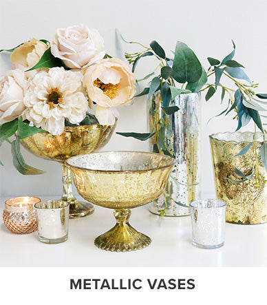 Metallics Vases | Holiday Vases for Centerpieces