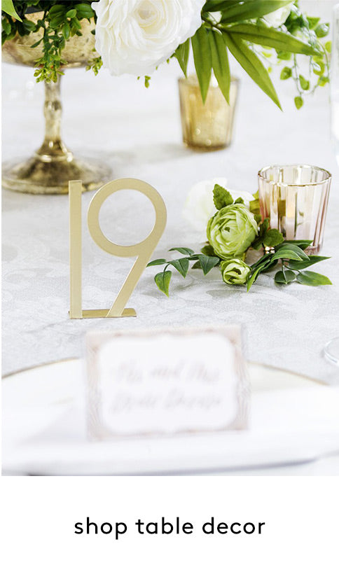 Wedding and Event Table Decorations | Wedding Table Numbers
