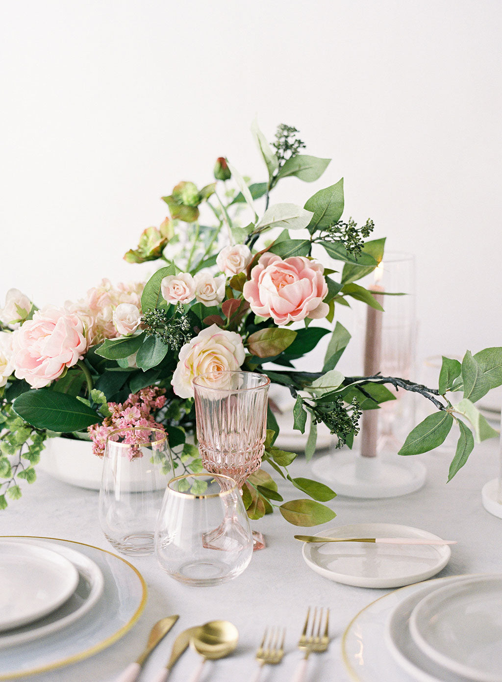 Pink Whimsical Wedding Centerpiece