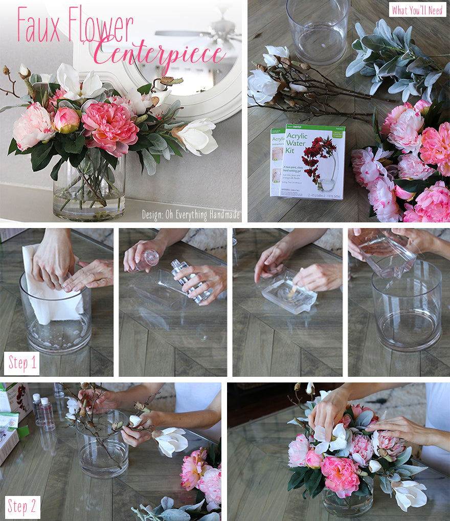 Diy Centerpieces With Faux Flowers Afloral
