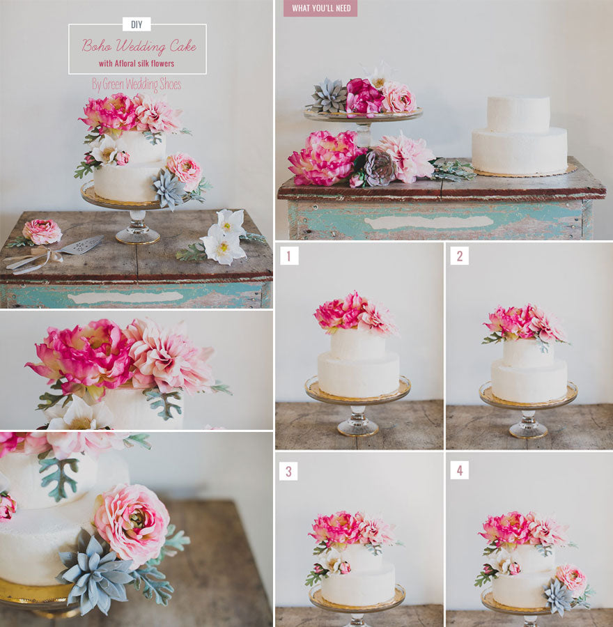 Diy wedding using flowers on wedding cakes afloral diy wedding using flowers on wedding cakes junglespirit Gallery