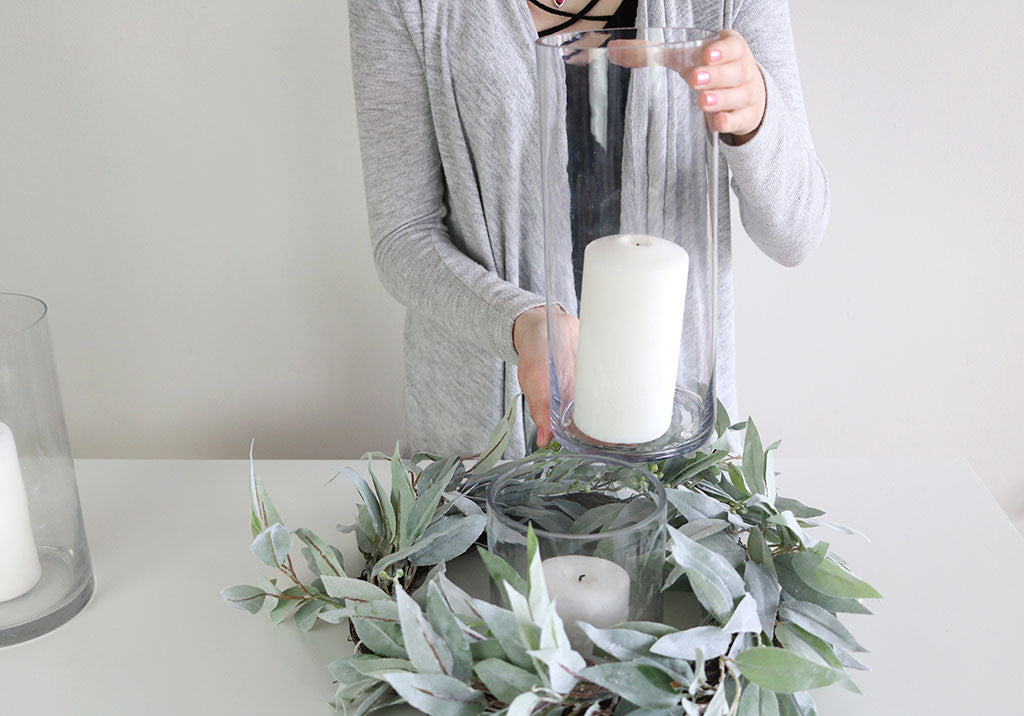 DIY Fake Greenery Centerpiece