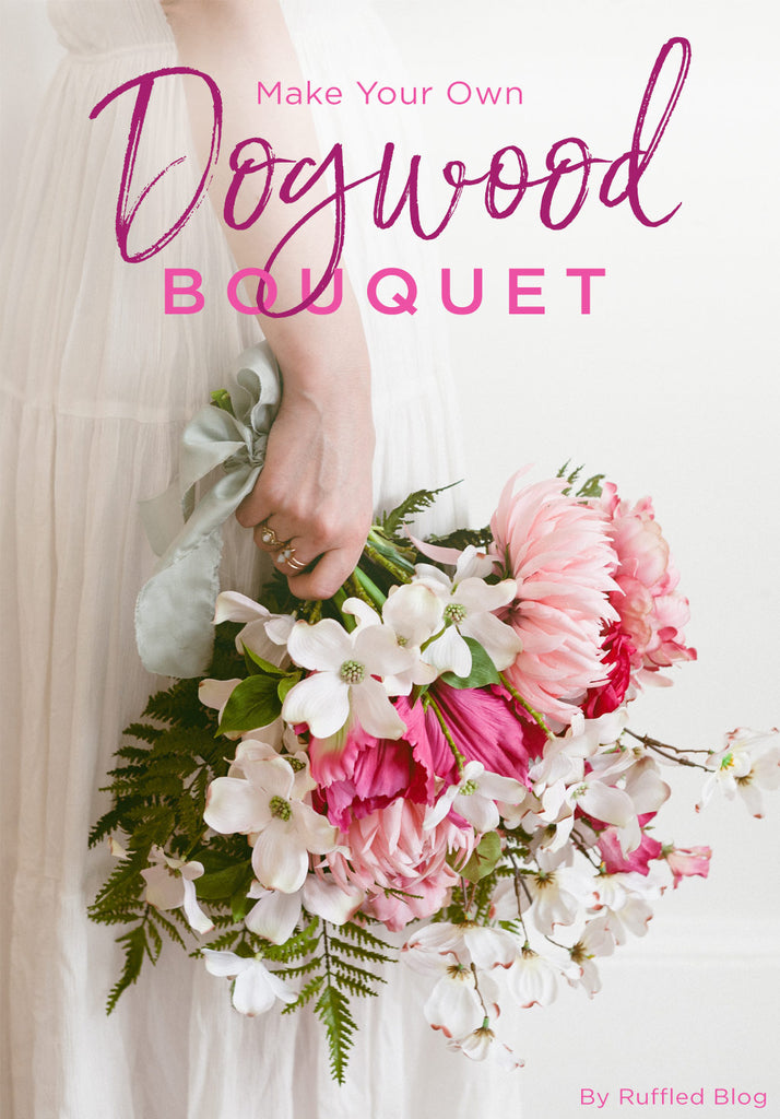 Make your own dogwood bouquet diy bouquet spring flower if theres one flower that we look forward to seeing come springtime its the dogwood diy this dogwood bouquet created by ruffled blog mightylinksfo