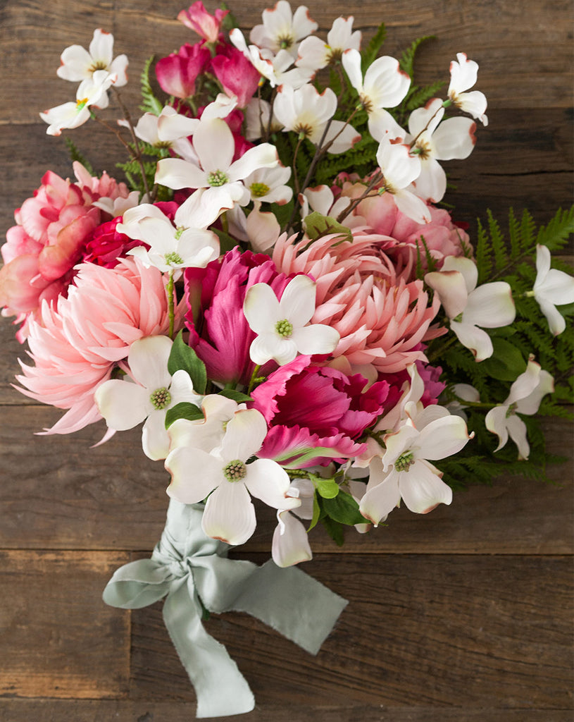 Make your own dogwood bouquet diy bouquet spring flower step 4 add more dogwood blooms for a fuller look izmirmasajfo