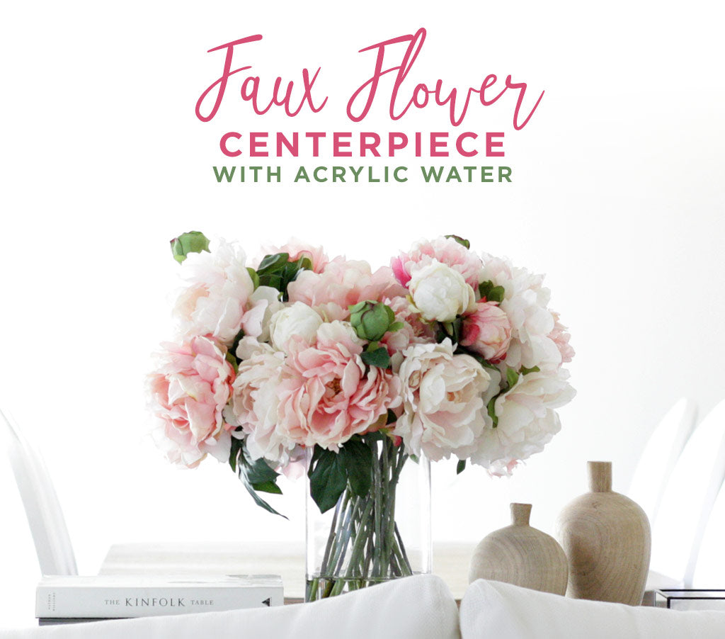 Acrylic Water Faux Flower Centerpiece | Acrylic Water Arrangement ...