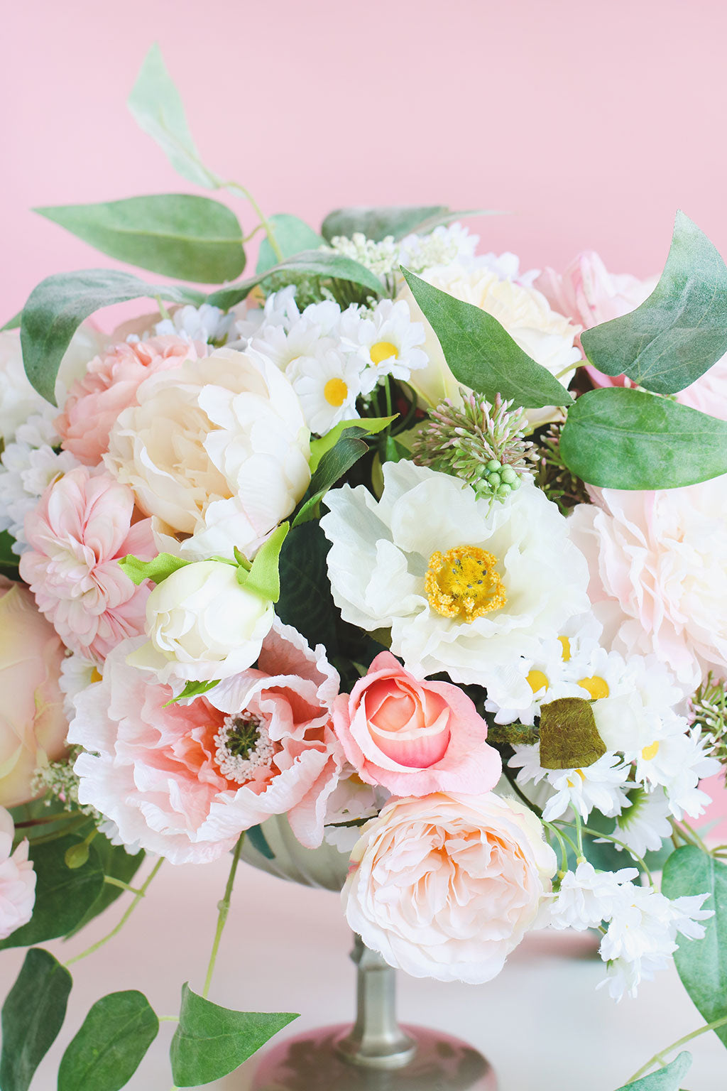 Pink Summer Wedding Centerpiece