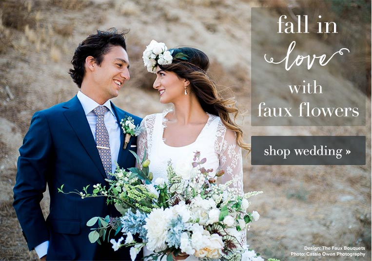 Fall in love with Faux Wedding Flowers