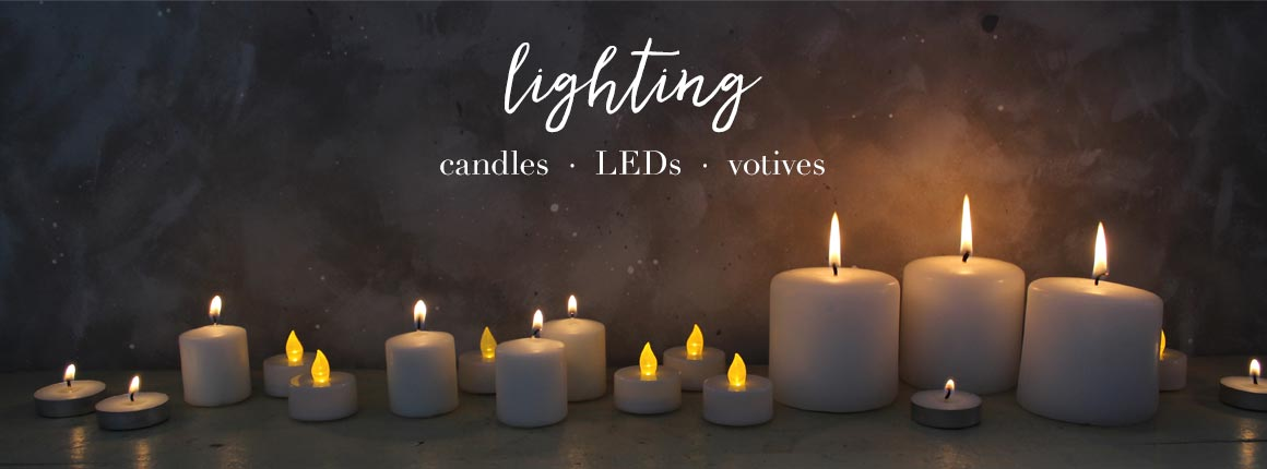 Candles, LEDs, and Votives