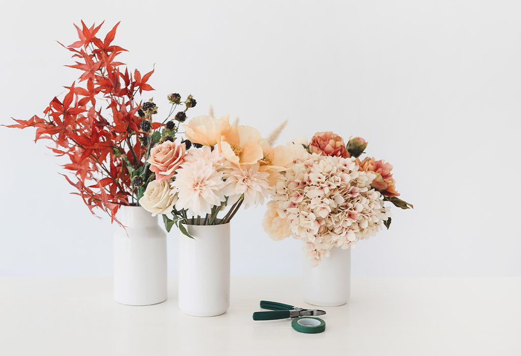 How to Make A Fall Wedding Bouquet with Artificial Flowers