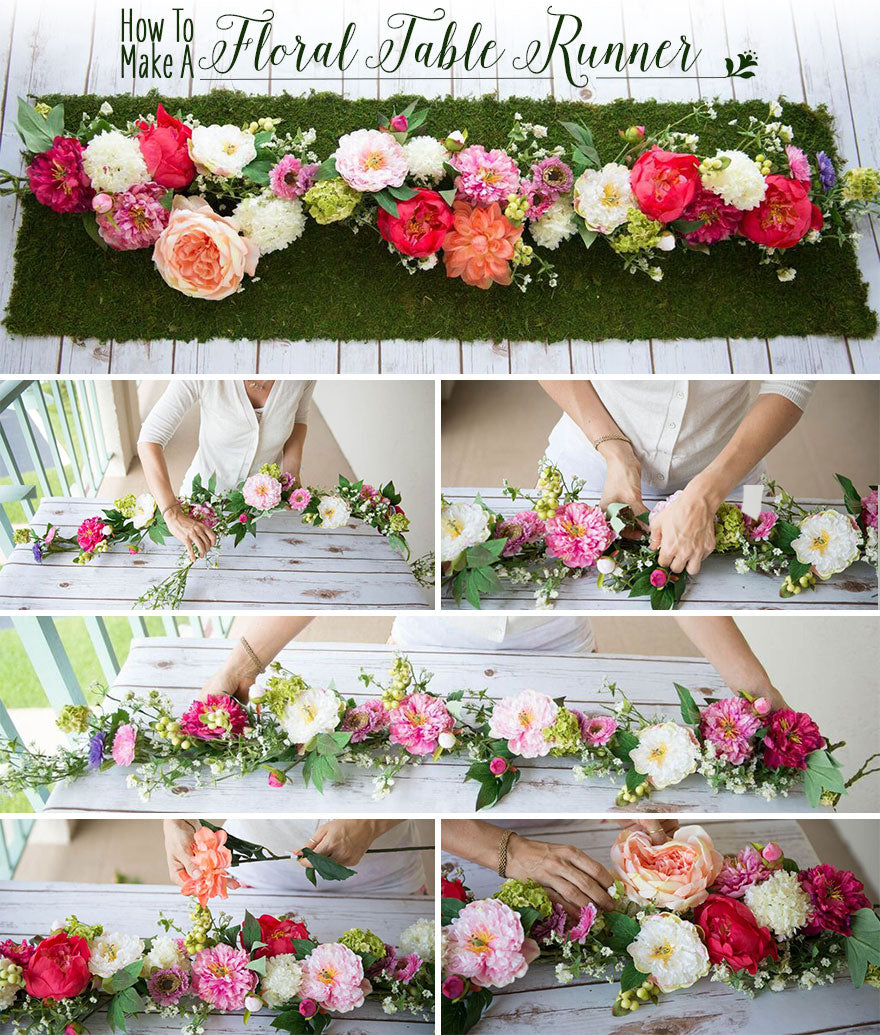 How To Make A Floral Table Runner Afloral