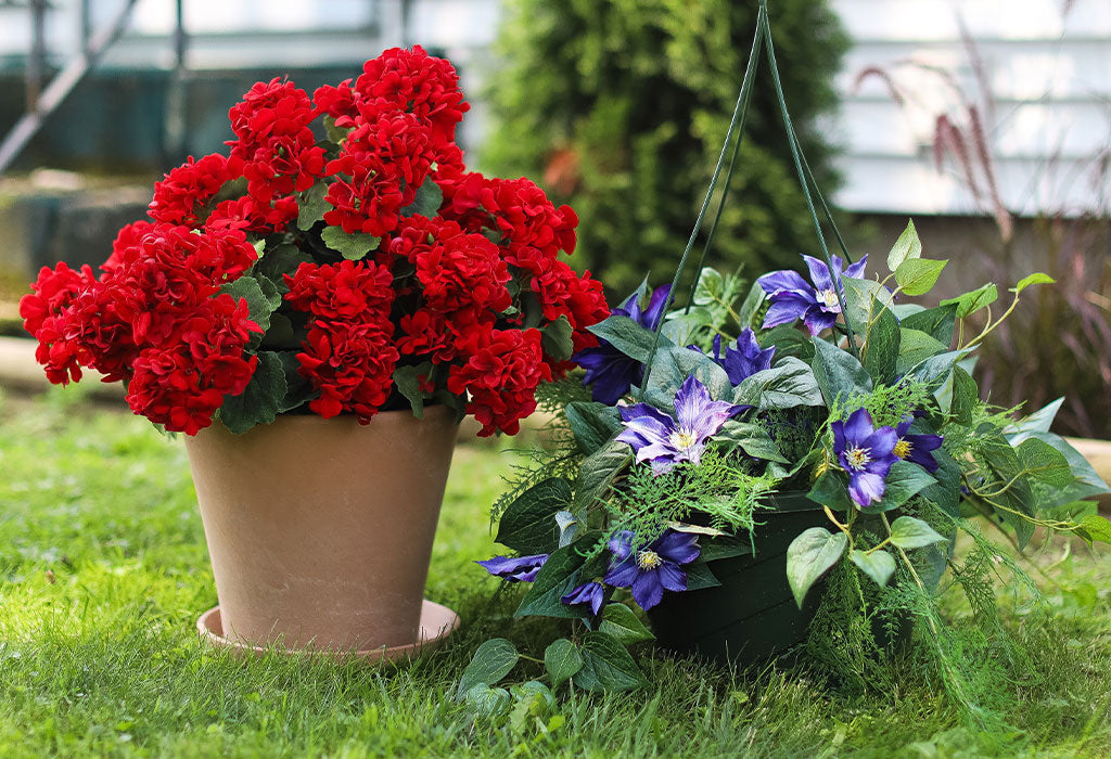 How to Fill an Outdoor Planter with Artificial Flowers