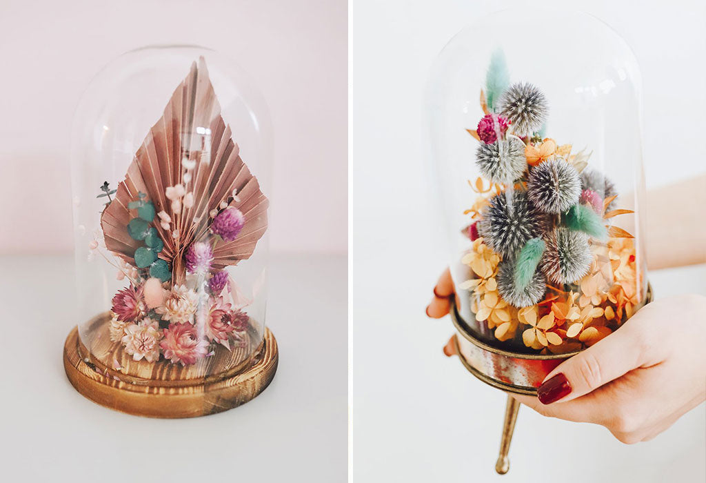 How to Create a Dried Flower Cloche