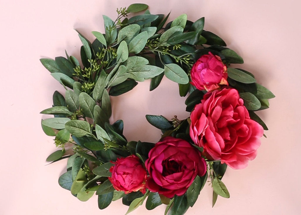 How To Make A Silk Flower Wreath