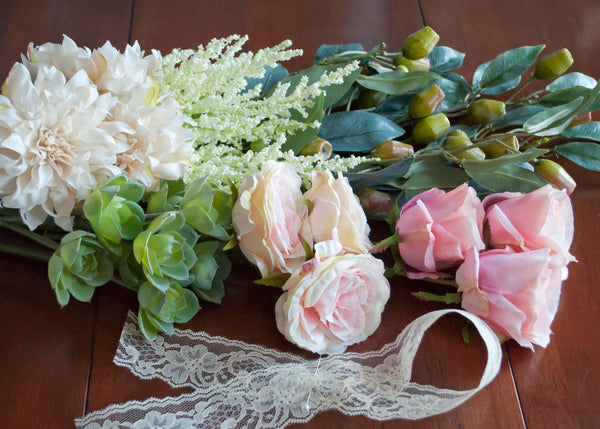 Silk Wedding Bouquet Materials