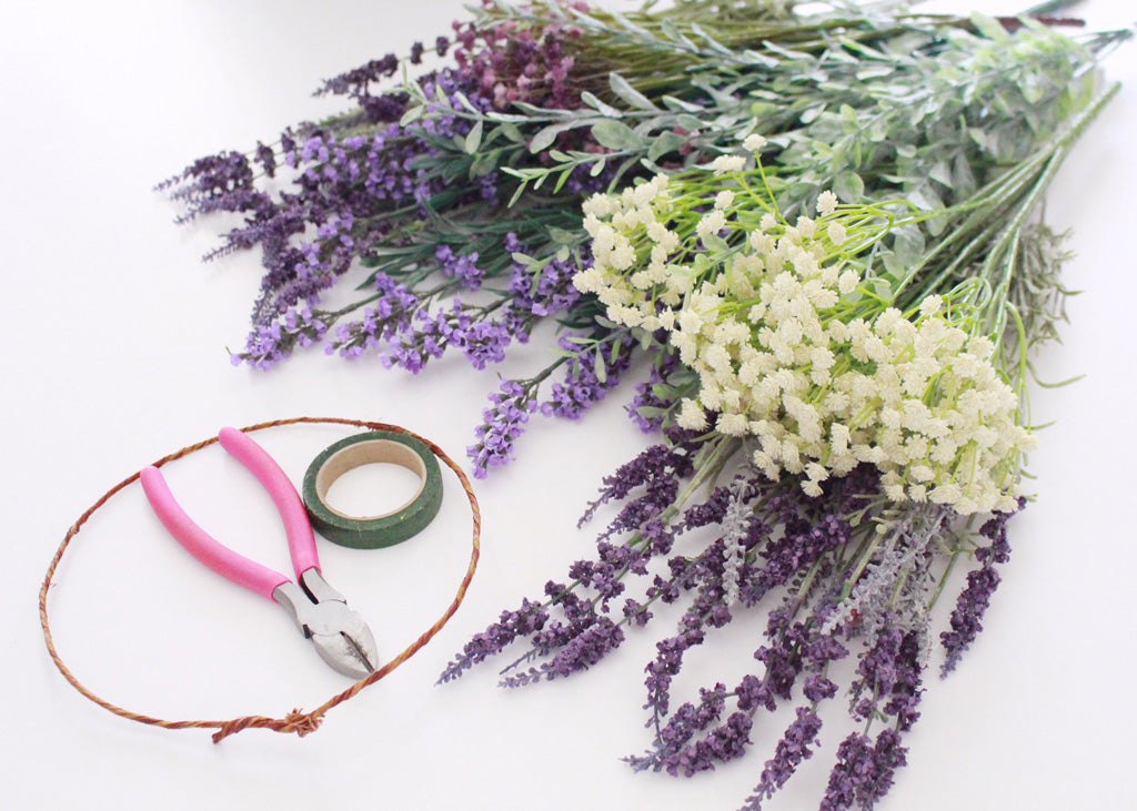Diy Lavender Flower Crown How To Make A Floral Crown