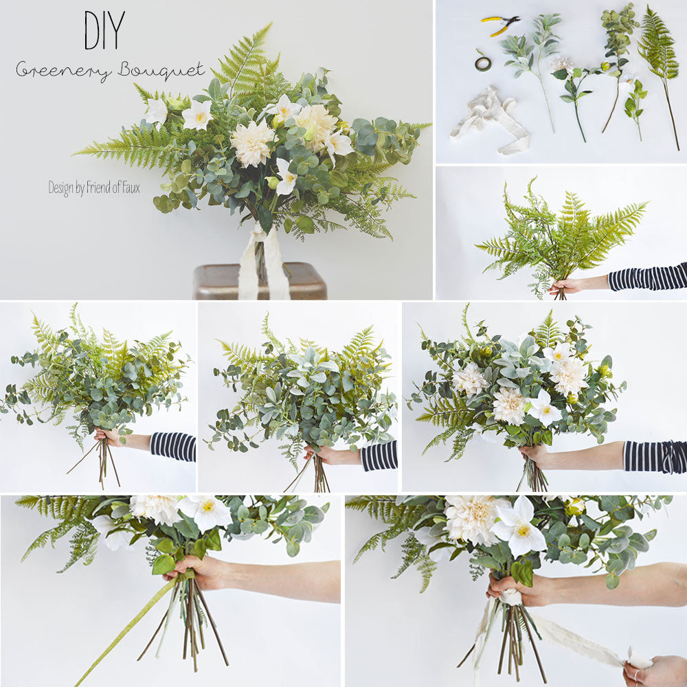 Diy greenery bouquet afloral