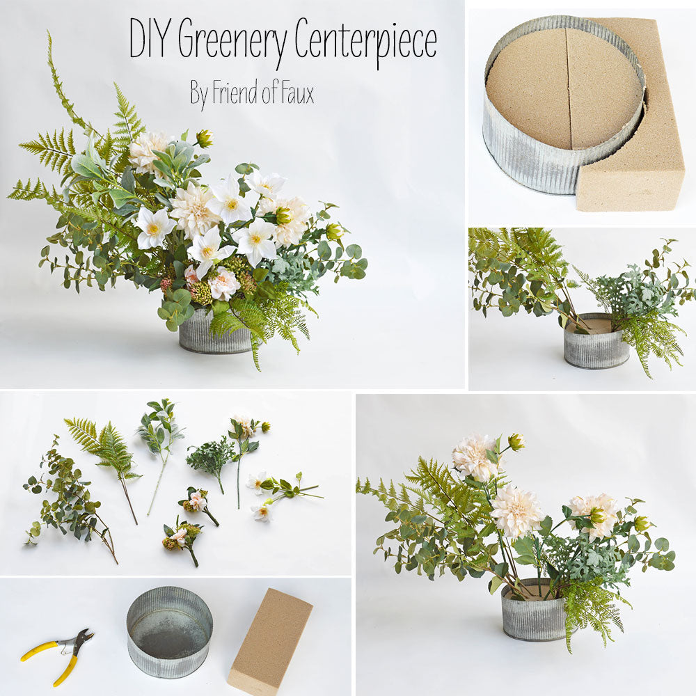 Diy greenery centerpiece afloral