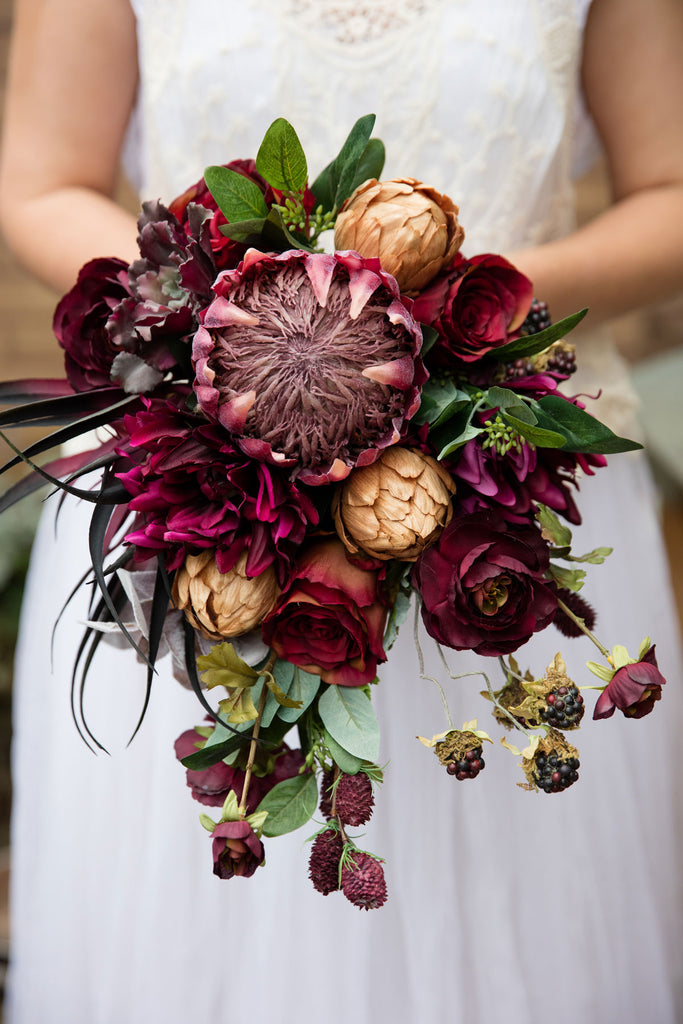 Burgundy Bridal Bouquet – Afloral.com