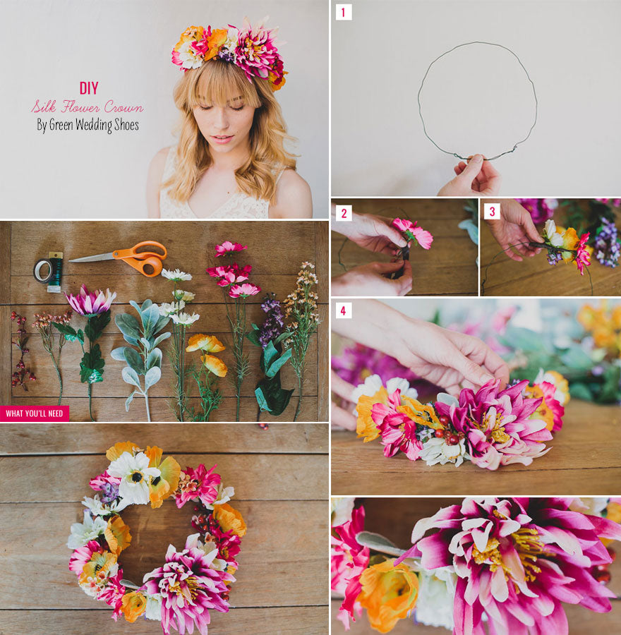 Make your own silk flower crown floral design diys at afloral izmirmasajfo