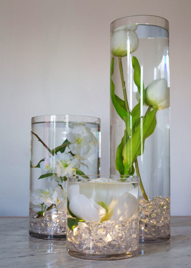 DIY White Wedding Centerpiece