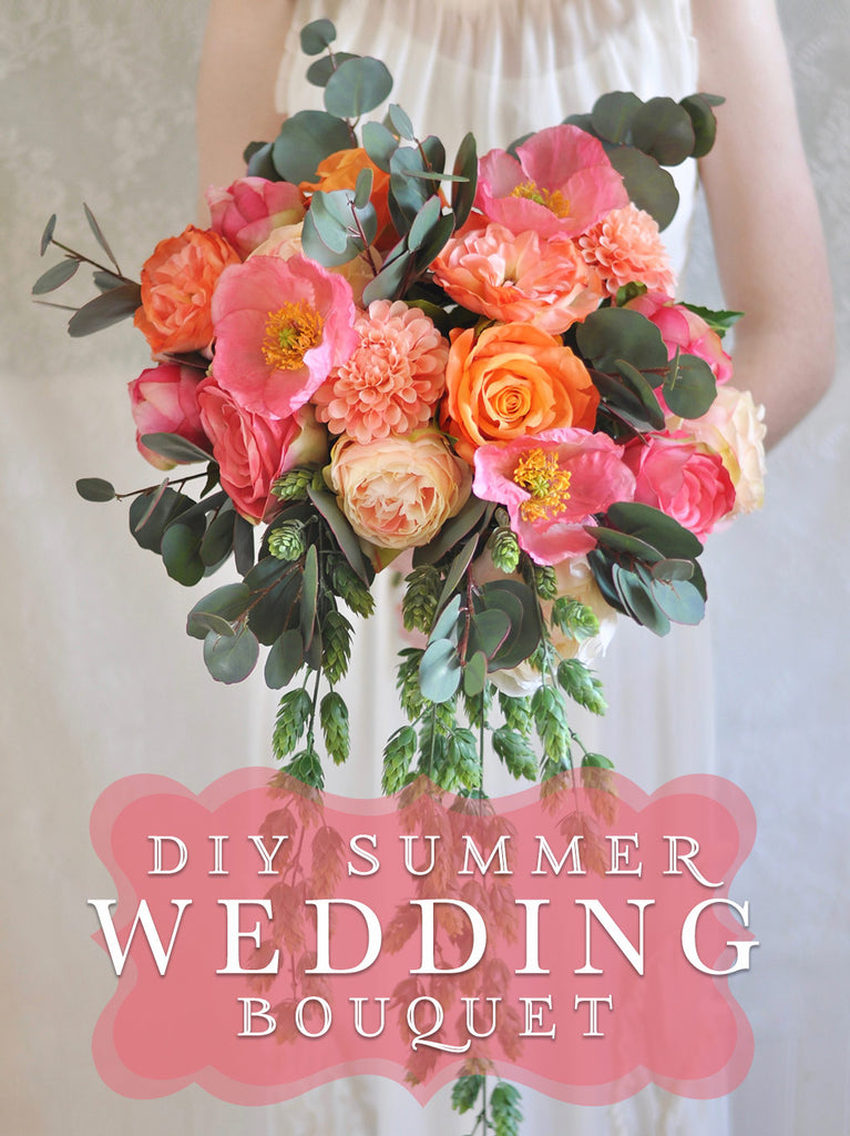 Diy summer wedding bouquet wedding bouquet how to make a summer get ready for your summer wedding with this diy summer bouquet tutorial featuring our ever popular dahlias poppies roses and peonies this silk bouquet mightylinksfo