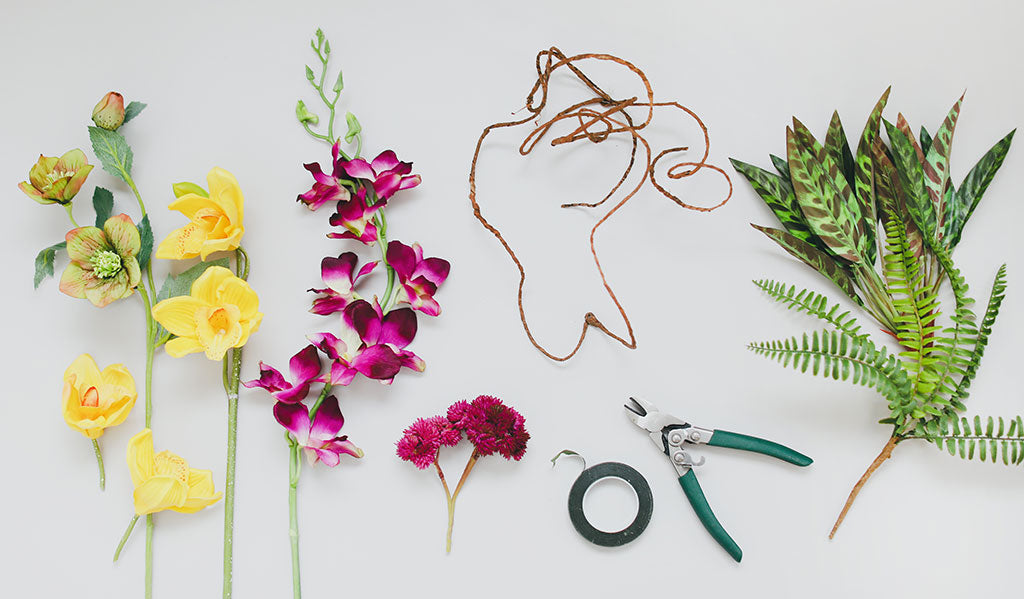 DIY Tropical Silk Flower Crown