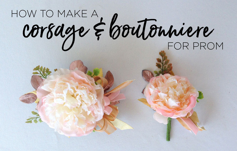 How to make a prom corsage boutonniere afloral prom corsage and boutonniere mightylinksfo