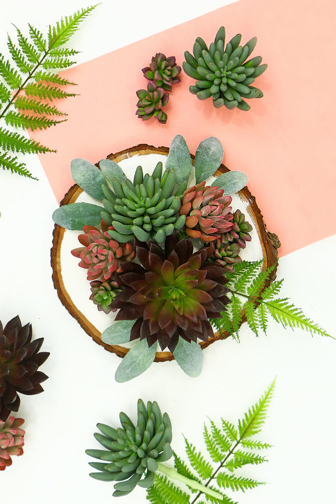 artificial succulent diy wall hanging