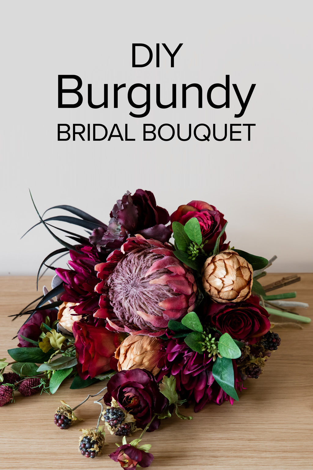 Burgundy Bridal Bouquet Protea Bouquet Diy Bouquet Afloral Com