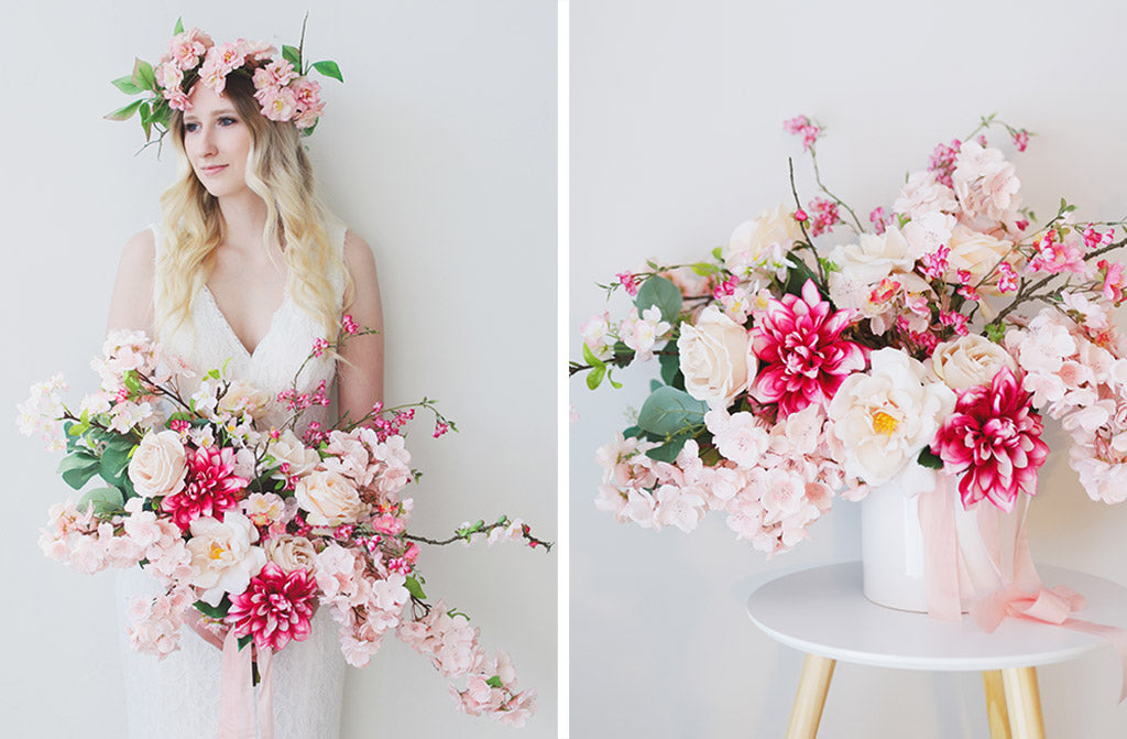 Artificial Cherry Blossom Bouquet