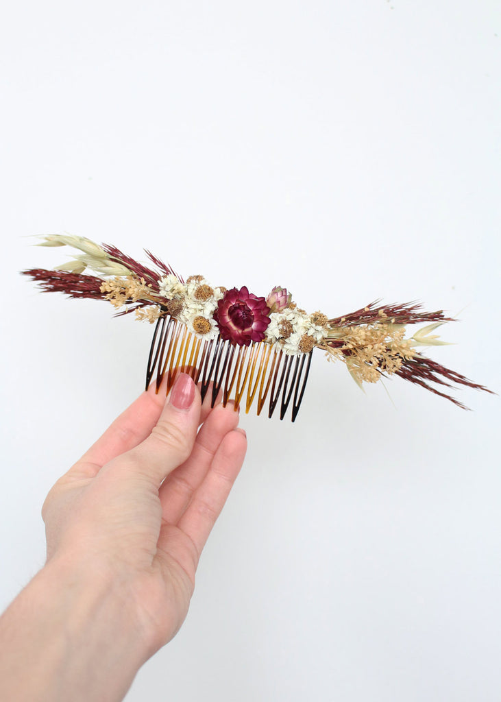 Diy Wedding Hair Comb With Dried Flowers Afloral Com