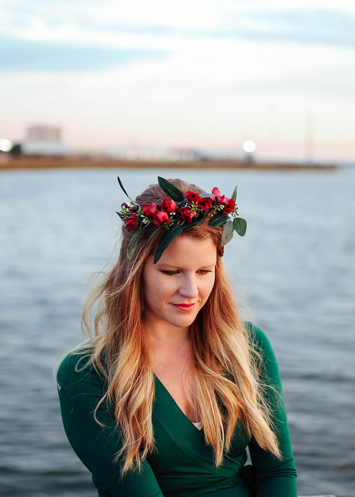 DIY Eucalyptus Crown