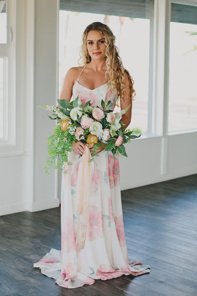 DIY Silk Flower Bouquet For An Elopement