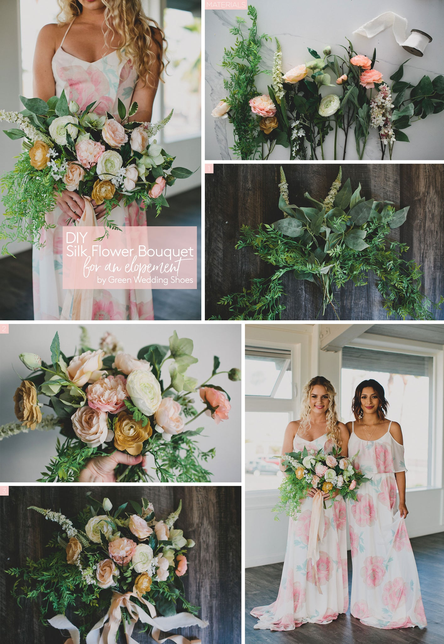 Diy Silk Flower Bouquet For An Elopement Park Weddings Afloral