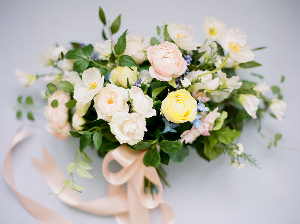 Organic Wedding with Artificial Flowers