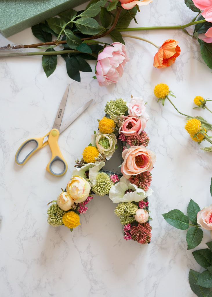 How To Make A Floral Letter Flower Letters Afloral Com